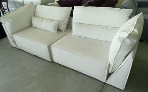Divano Bianco Tessuto