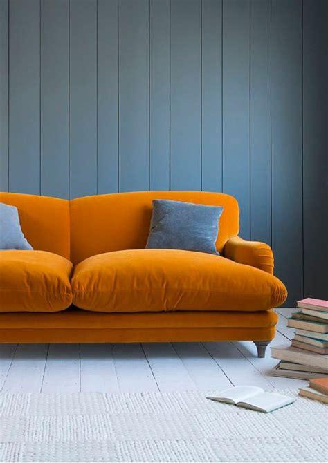 Divano Blu E Arancione