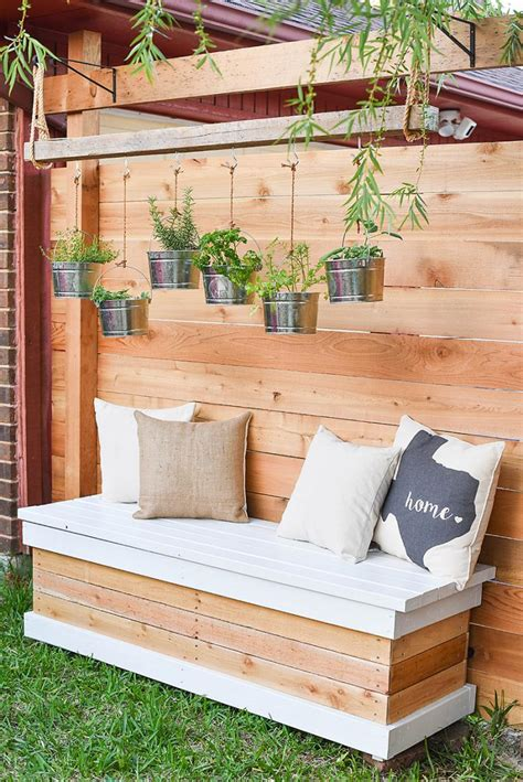 diy wood bench seat with back