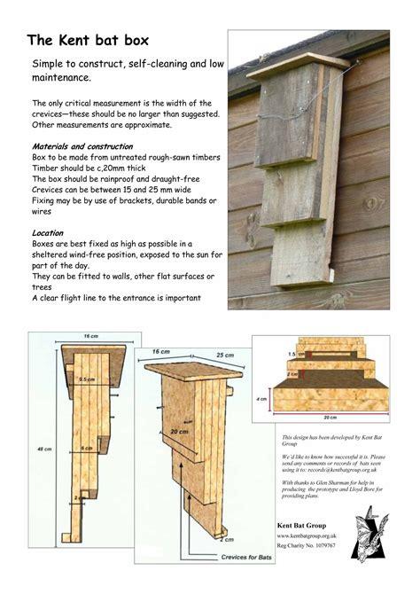 Diy Bat Box Plans