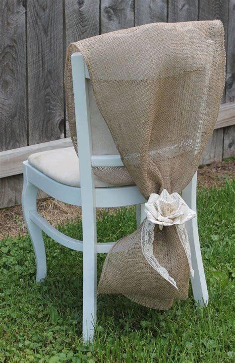 Diy Burlap Chair Sashes