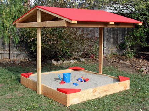 Diy Covered Sandbox