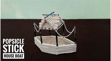 Best 60 Diy Ice Cream Stick House Boat How To Make Popsicle Stick