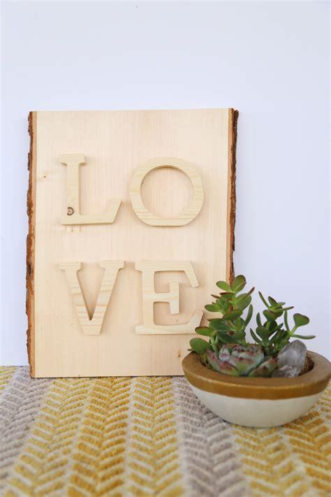 Diy Wood Love Sign