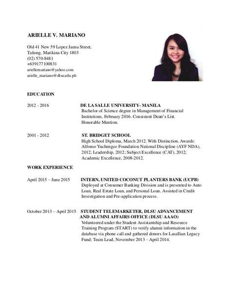 Dlsu Resume Format. Apa Resume Format Homework Solutions Metric
