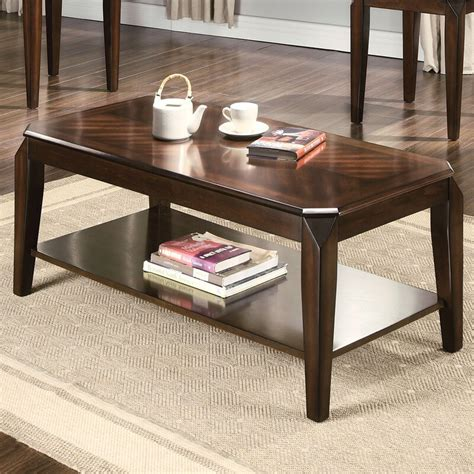 Docila Walnut 3 Piece Coffee Table Set