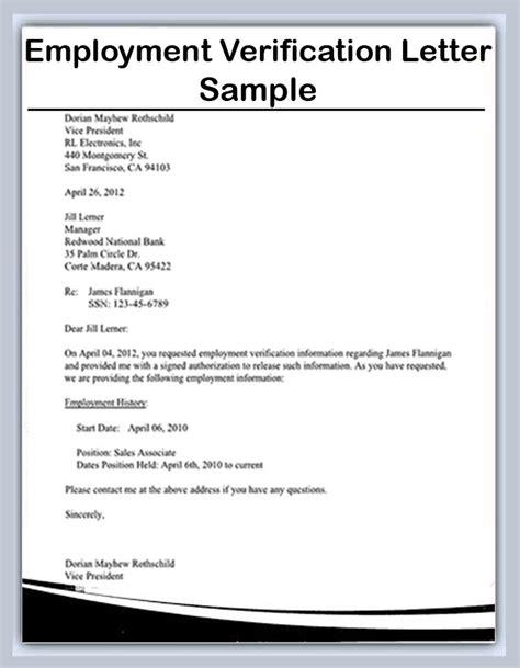 document verification letter format employment verification letter sample and template