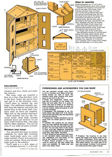 Dollhouse Furniture Plans