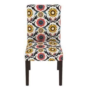 Dominique Floral Parsons Chair
