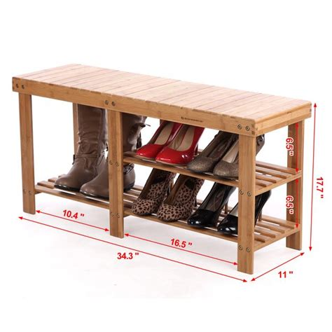 Donaldson 2 Tier Entryway Wood Storage Bench