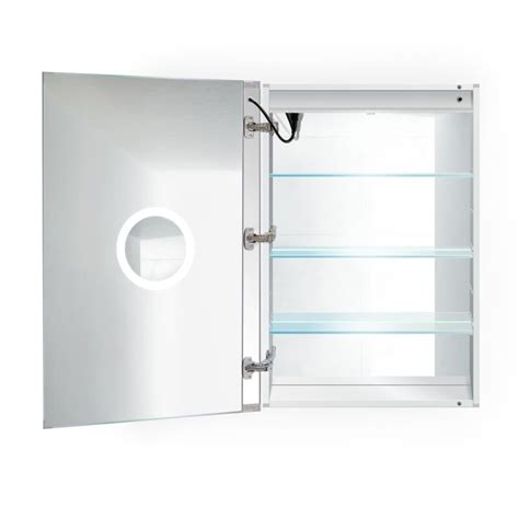 "Donnie 30"" x 36"" Recessed or Surface Mount Frameless Medicine Cabinet with 4 Adjustable Shelves and LED Lightin by"