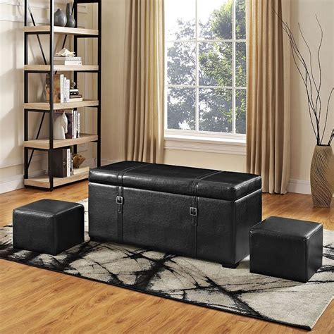 Dorchester 5 Piece Storage Ottoman Set