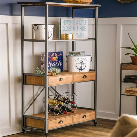 Dovenby Foldable Etagere Bookcase