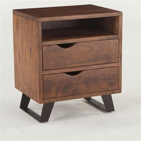 Dowlen 2 Drawer Wood Nightstand