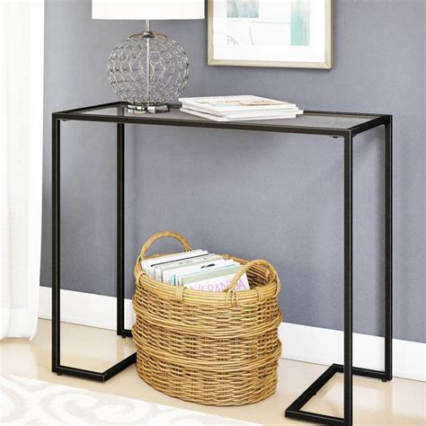 Dowling Glass Top Console Table