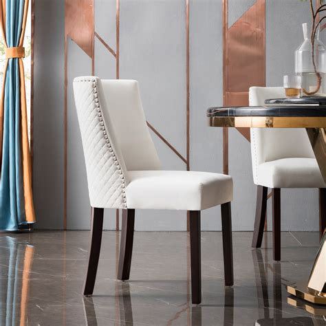 Downey Wooden Upholstered Dining Chair (Set of 2)