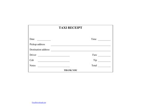 Credit Card Authorization Template Excel Download Blank Printable Taxicab Receipt Template Excel