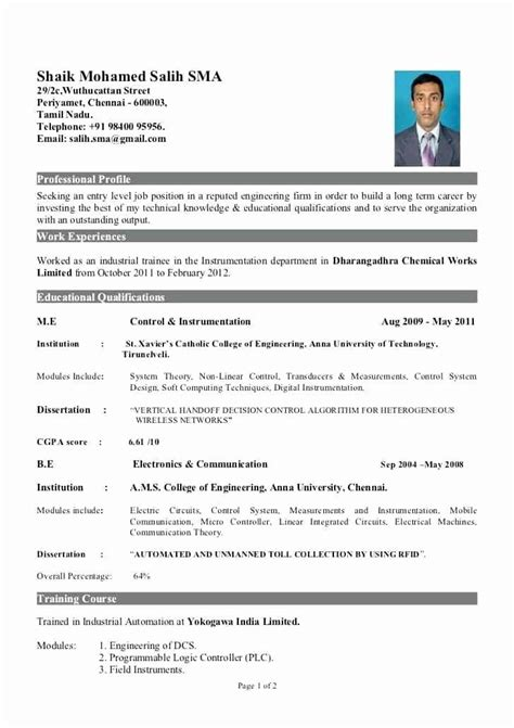 Download Resume Format For 2 Years Experienced Software Engineer 4 Experienced Engineer Resume Samples Examples Download