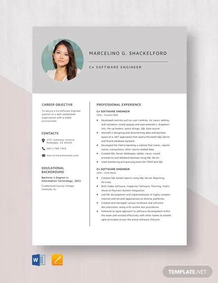 Download Resume Format For 2 Years Experienced Software Engineer 5 Software Engineer Resume Samples Examples Download
