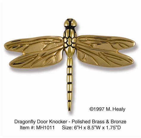 Brass Dragonfly Door Knocker Brass Bronze.