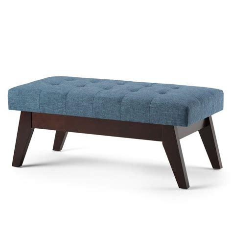 Draper Mid Century Upholstered Bench