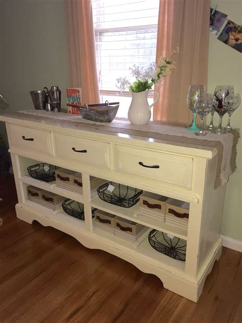 Dresser To Buffet Diy