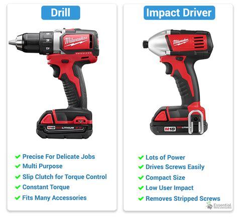 Drill Vs Driver