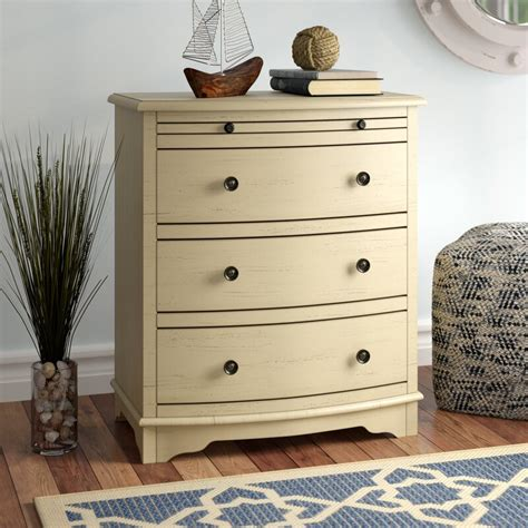 Dubreuil 4 Drawer Chairside Accent Chest in Ivory