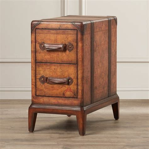 Dudash Old World Map End Table