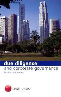 Corporate Lawyer Books Due Diligence And Corporate Governance 1st Edition