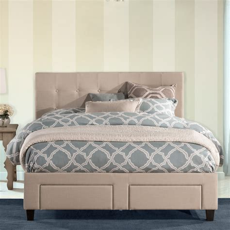 Duggan Upholstered Panel Bed by Alcott Hill