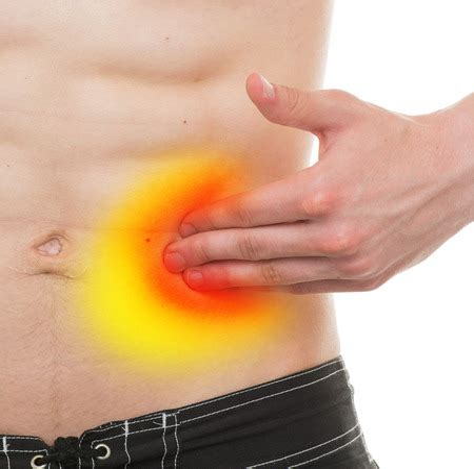 dull pain on mid left side of abdomen