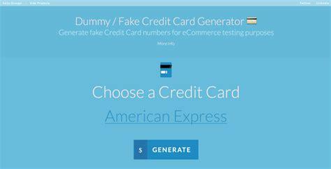 Credit Card Generator Code Dummy Fake Credit Card Generator Saijogeorge
