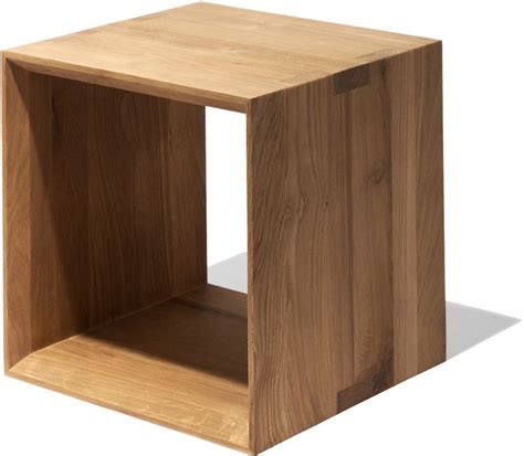 Dunstan Wood Cube End Table