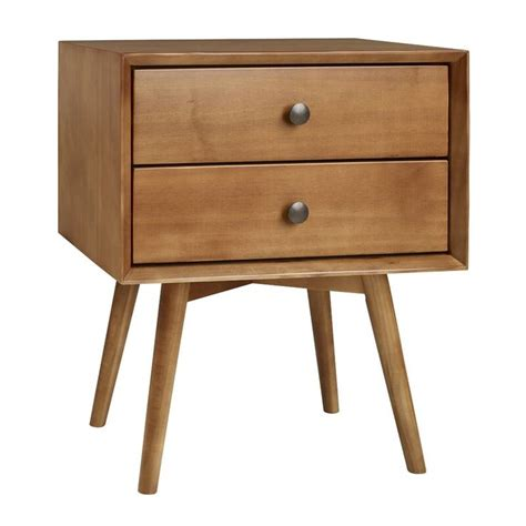 Durham Stacked Wood 1 Drawer Nightstand