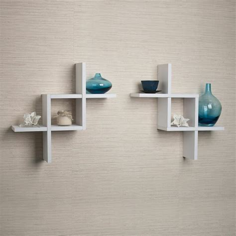 Earleville Criss Cross 2 Piece Wall Shelf Set