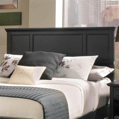 Ebony Solid Wood Frame Upholstered Panel Headboard