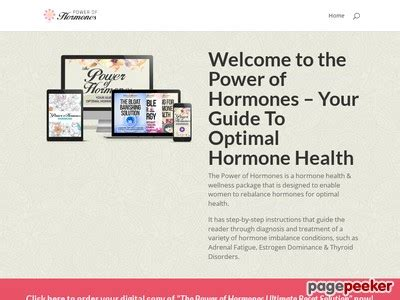 @ Ebook Power Of Hormones Women S Offer - Excellent Epcs And Resources