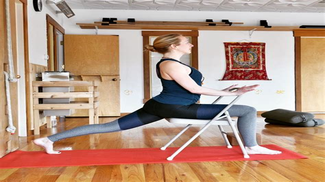 eccentric hip flexor strengthening seated shoulder stretch