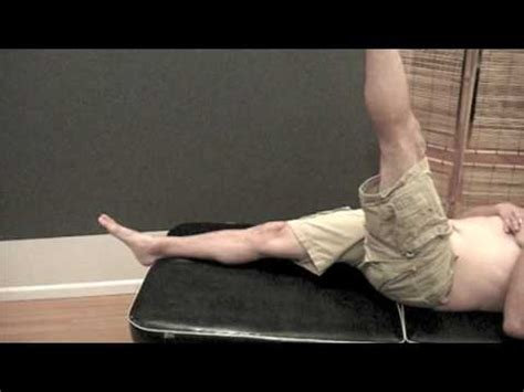 eccentric load hip flexor exercises with resistance tube