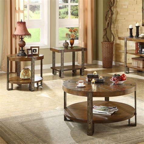Edmundson Wooden 3 Piece Coffee Table Set