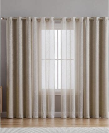 Edna Puff Paint Blackout Polyester Curtain Panels (Set of 4 by