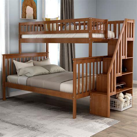 Eide Twin Over Full Bunk Bed with Storage byHarriet Bee