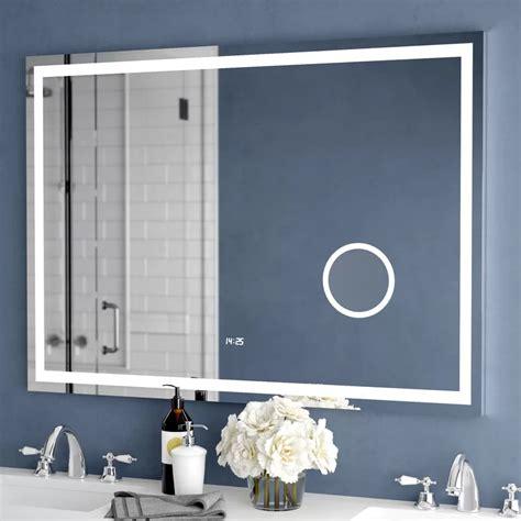 Electric With Clock Bathroom/Vanity Mirror