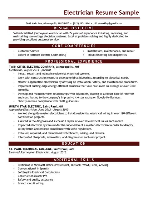 resume sample electrician download bank statement request letter