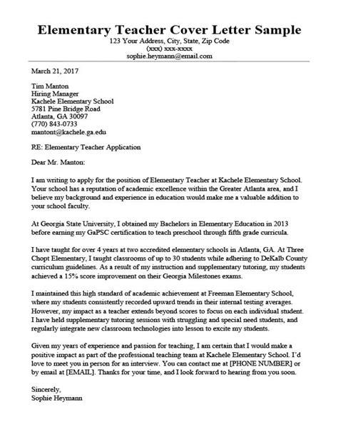 Elementary Teacher Resume Cover Letter Examples | Ece Resume ...