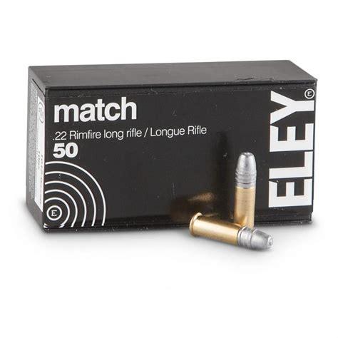 Ammunition Eley Match Ammunition 22 Long Rifle.