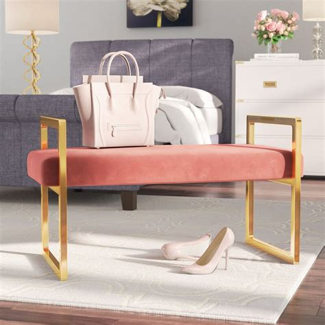 Elmwood Upholstered Bench