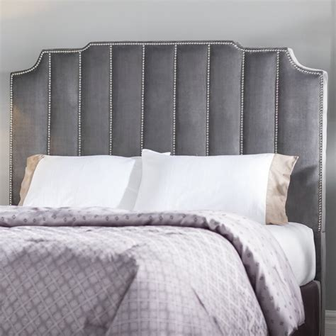 Elof Velvet Upholstered Panel Headboard