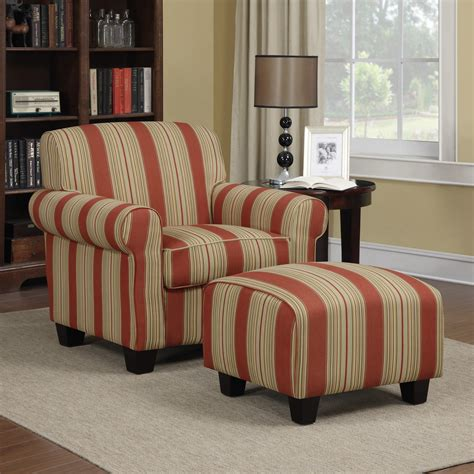 Elsie Accent Armchair and Ottoman